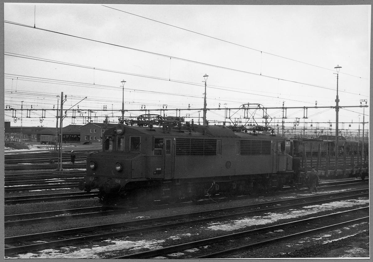 Statens Järnvägar, SJ Mg 604 vid Borlänge station.