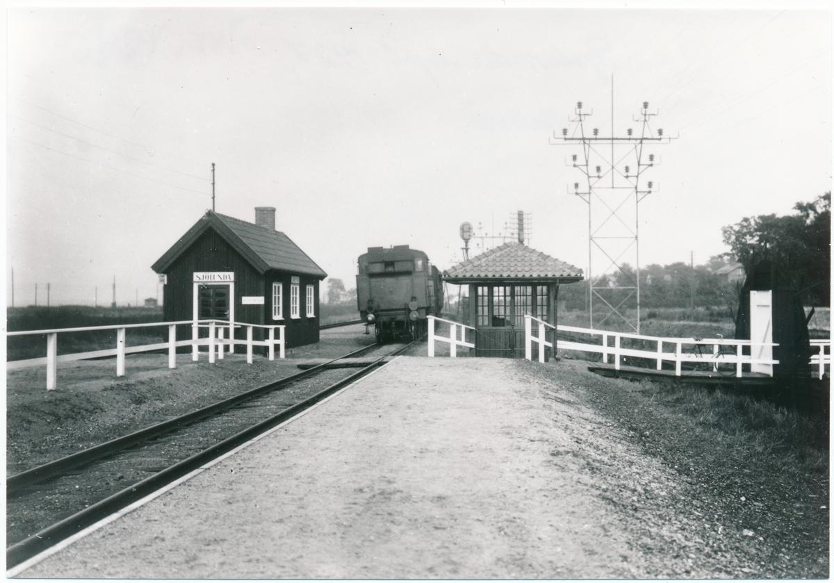 Vagn vid Sjölunda hållplats 1927 mot Malmö