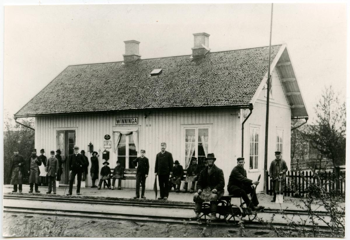Vinninga station på 1880-talet.