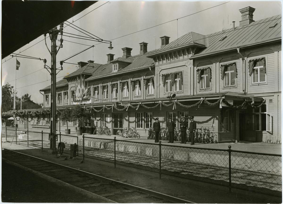 Utställning på Östersunds station.