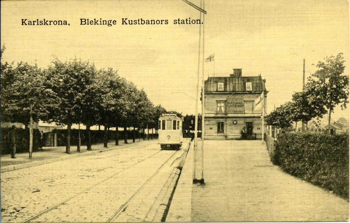 Blekinge Kustbanors station, Karlskrona Norra.