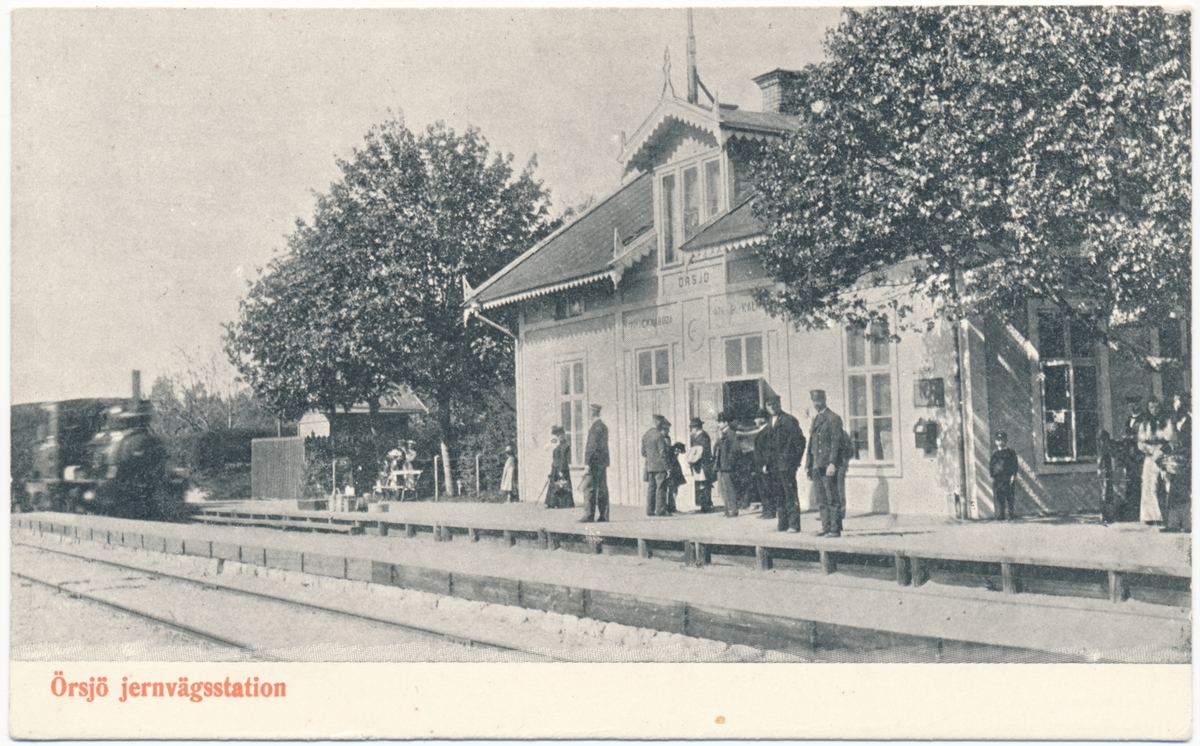 Örsjö station, på delsträckan Emmaboda- Nybro (Kalmar).