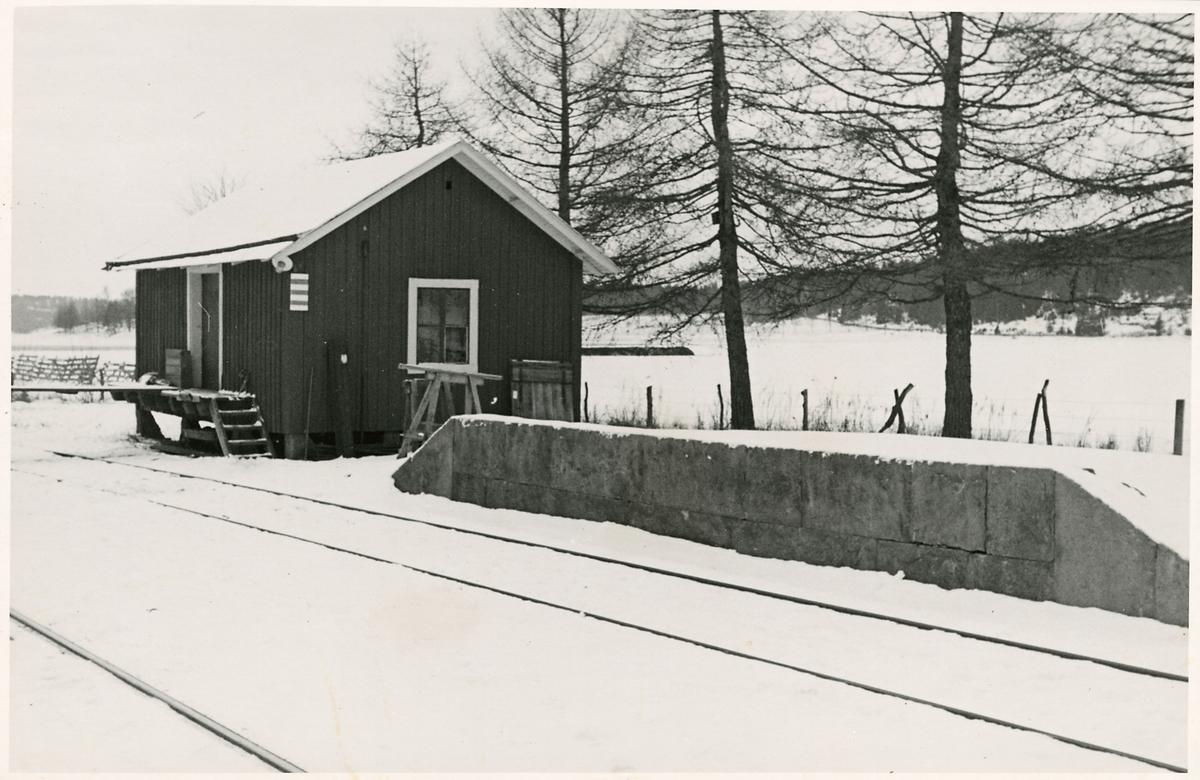 Inför elektrifieringen i Valsberga.