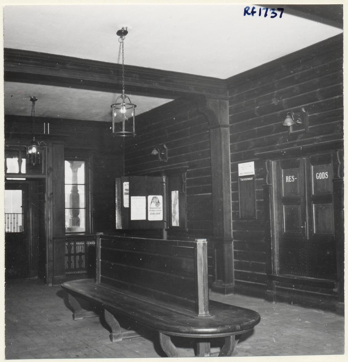 Väntsalen Norsholm station.