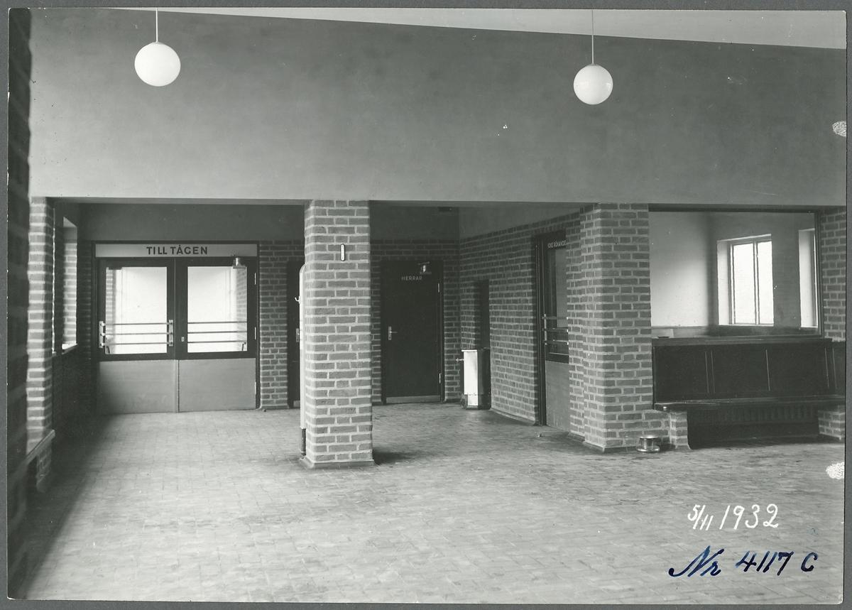 Väntsalen i Tranås station.