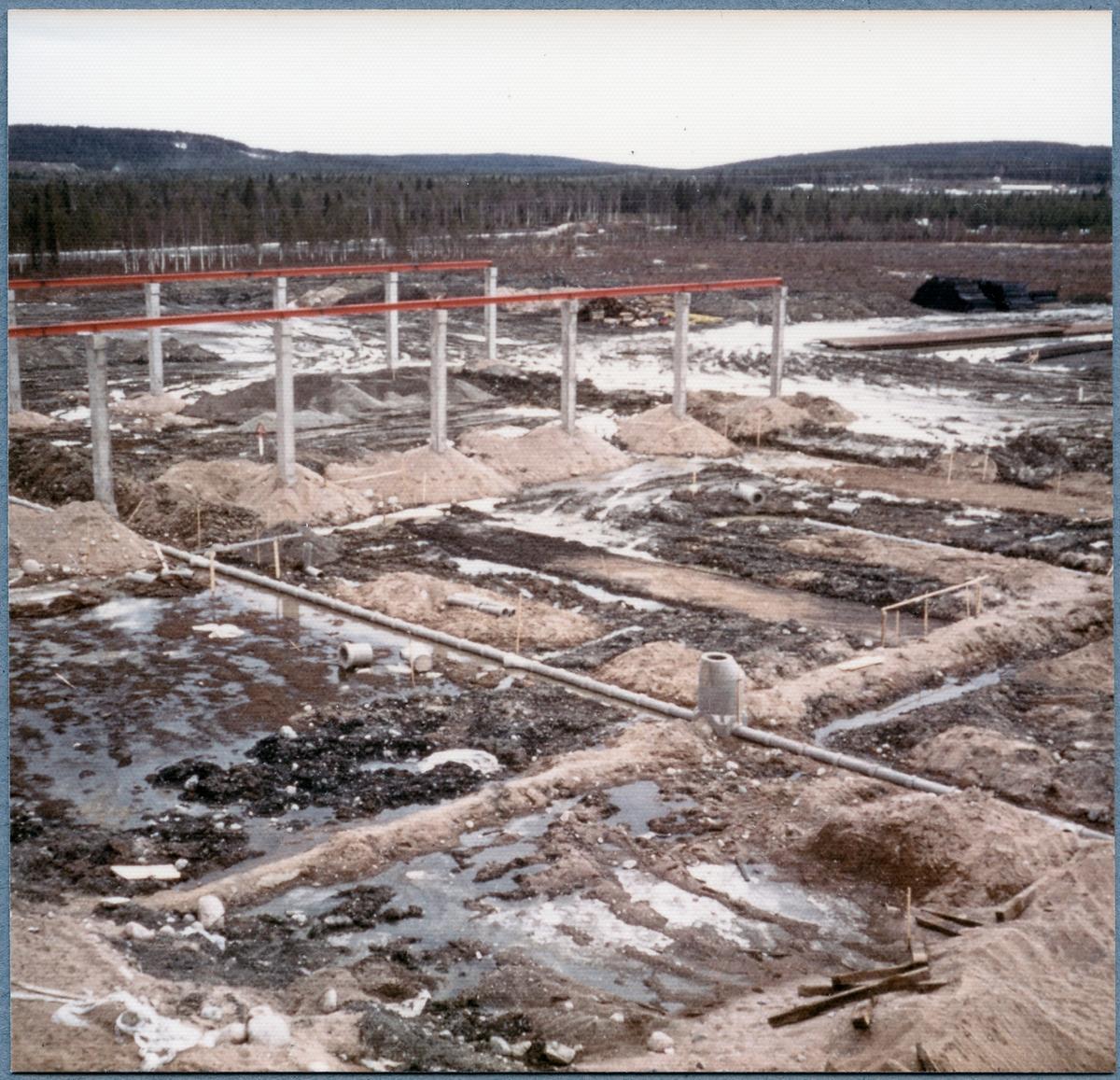Byggnationsarbete vid Östersund huvudverkstad.