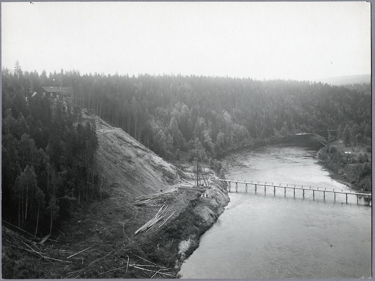 Broläget 1916 taget från den dåvarande bron.