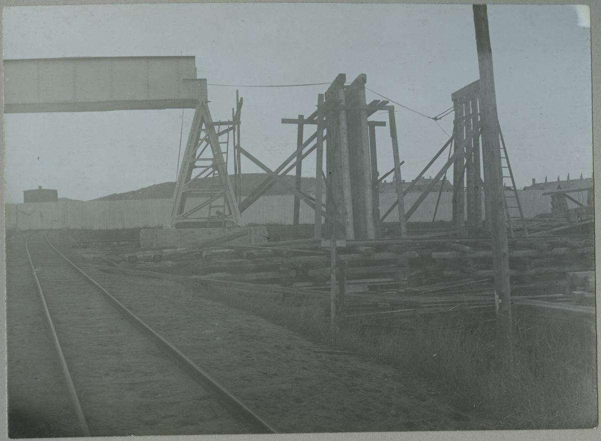 Provisorisk viadukt vid Göteborgs slakthus (Olskroken)