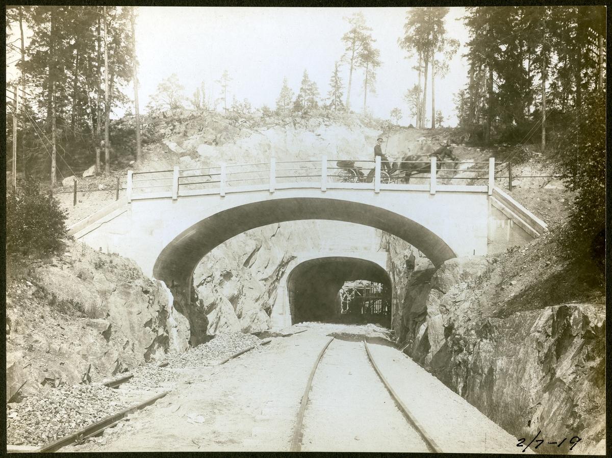 Södertälje. Statens Järnvägar, SJ.Tunneln vid Rönninge - Ström