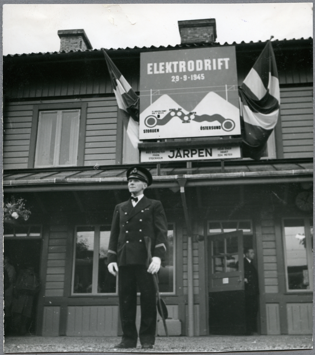 Från invigningsdagen av elektrifieringen av sträckan Östersund - Storlien.