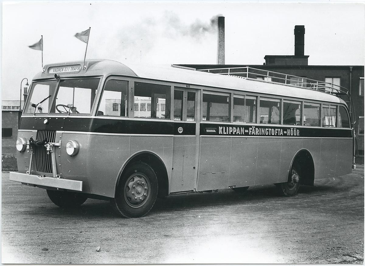 Buss Volvo B 513, Statens Järnvägar, SJ buss 1116. Trafikerar sträckan Klippan - Färingtofta - Höör.