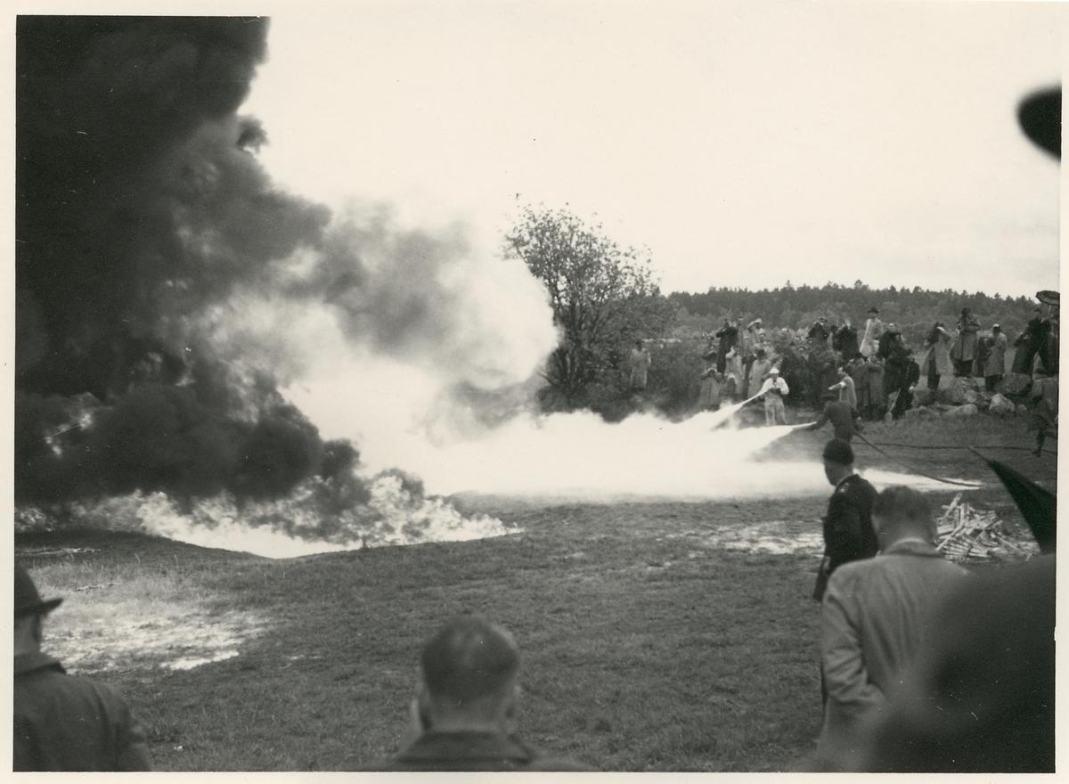 Brandövning i Bromma.