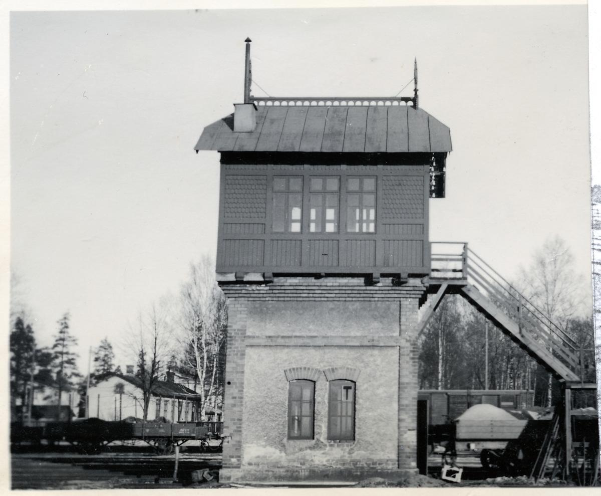 Växeltorn vid Sandviken station.