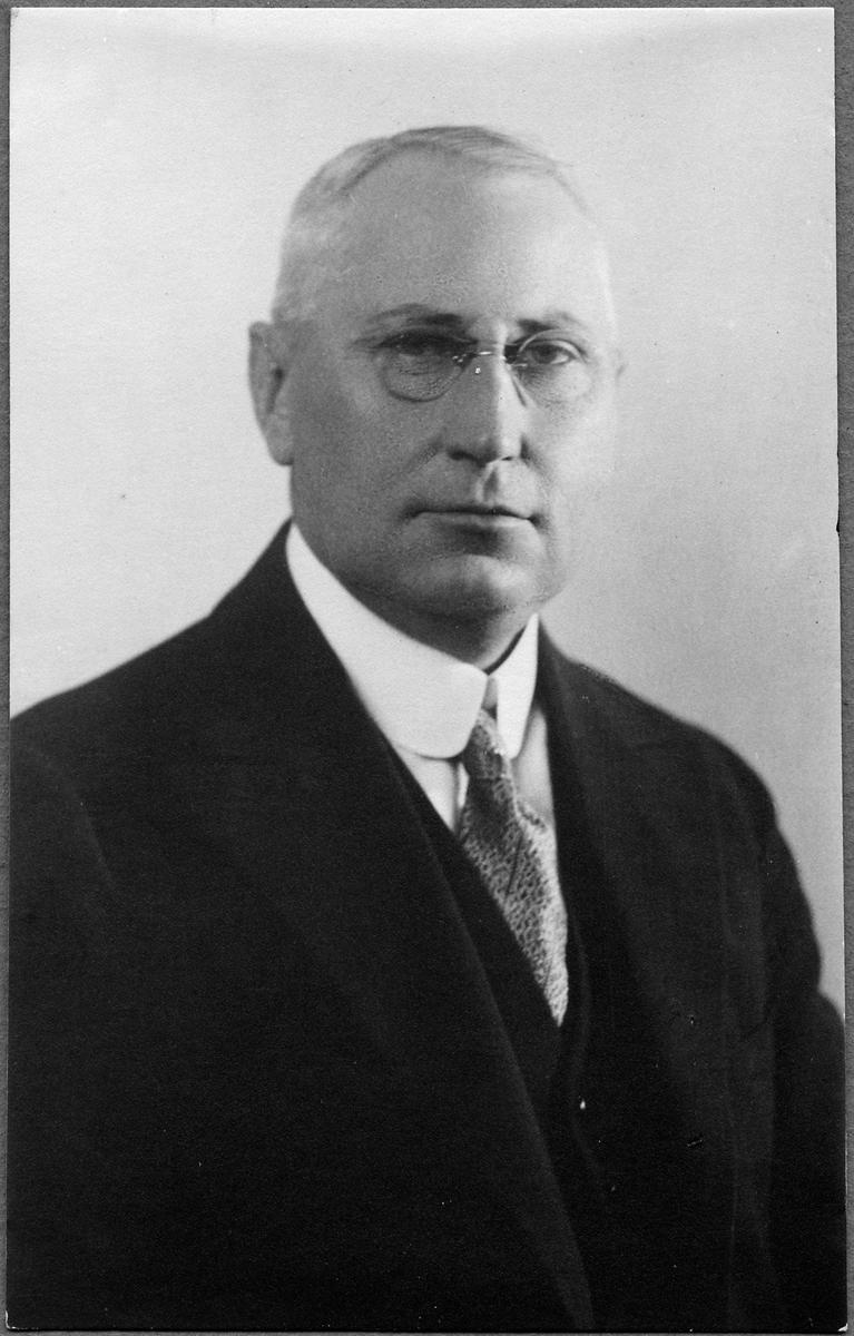 Arvid Arfvidsson, stationsinspektor i Billesholm 1907-1925.