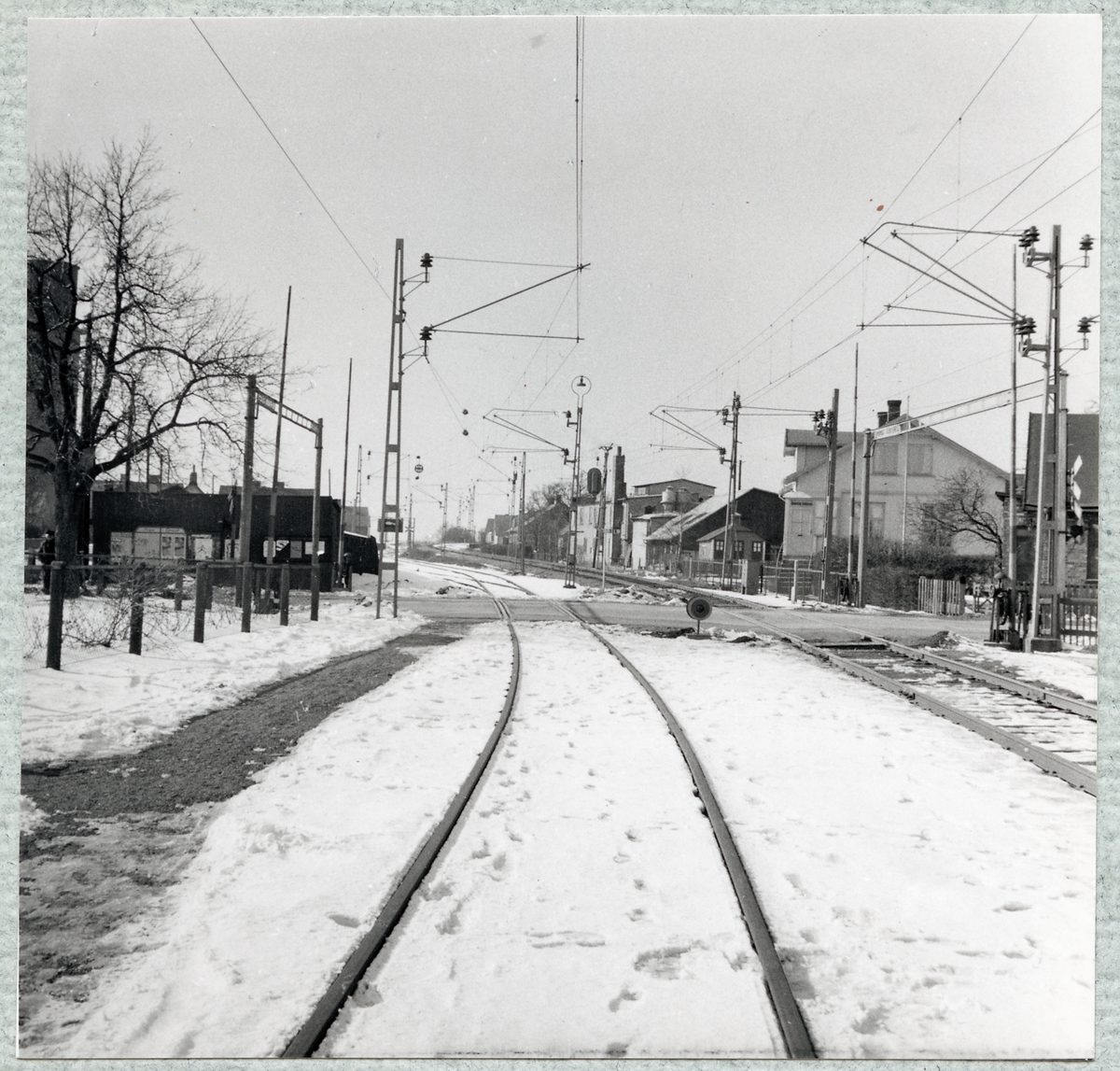 Järnvägsövergång vid Bruksgatan i Höganäs.