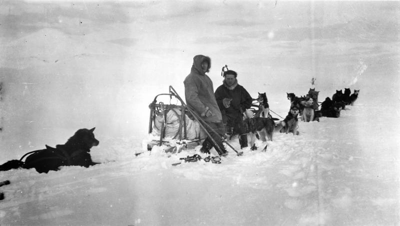 Roald Amundsen og Leonhard Seppala, 1923