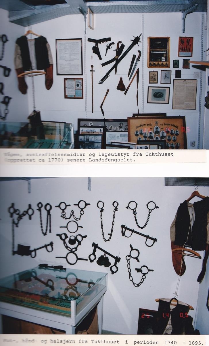 Album med foto fra utstillingen i kjelleren på politistasjonen i Trondheim fra 1975-1992, med forord av Knut Sivertsen