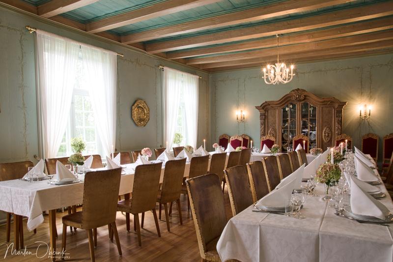 Pyntet spisesal på Elingaard Herregård (Foto/Photo)