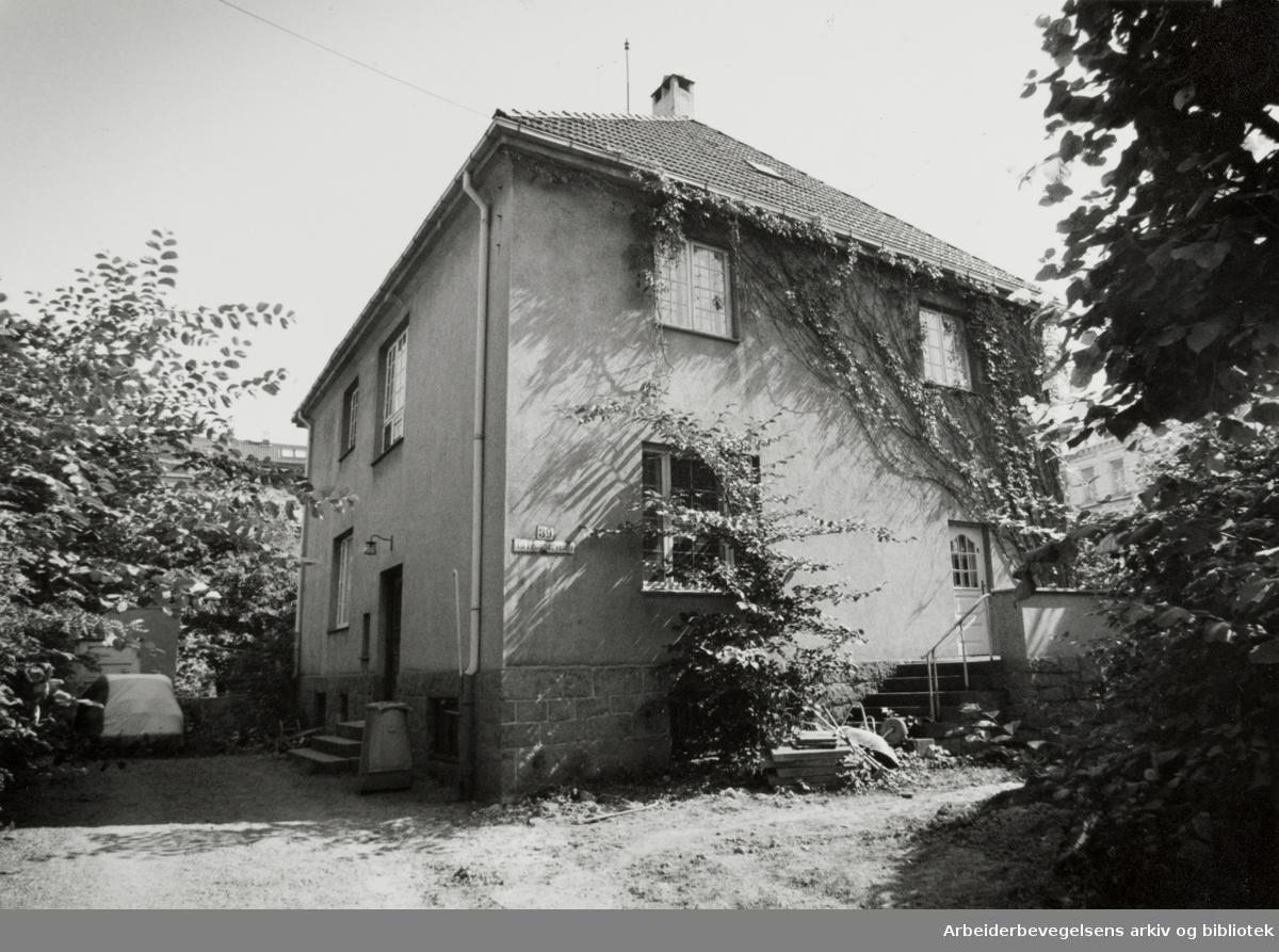 Frognerveien 39. Bolig og forretningsadressen til Pål Borgersen. 9. juli 1991
