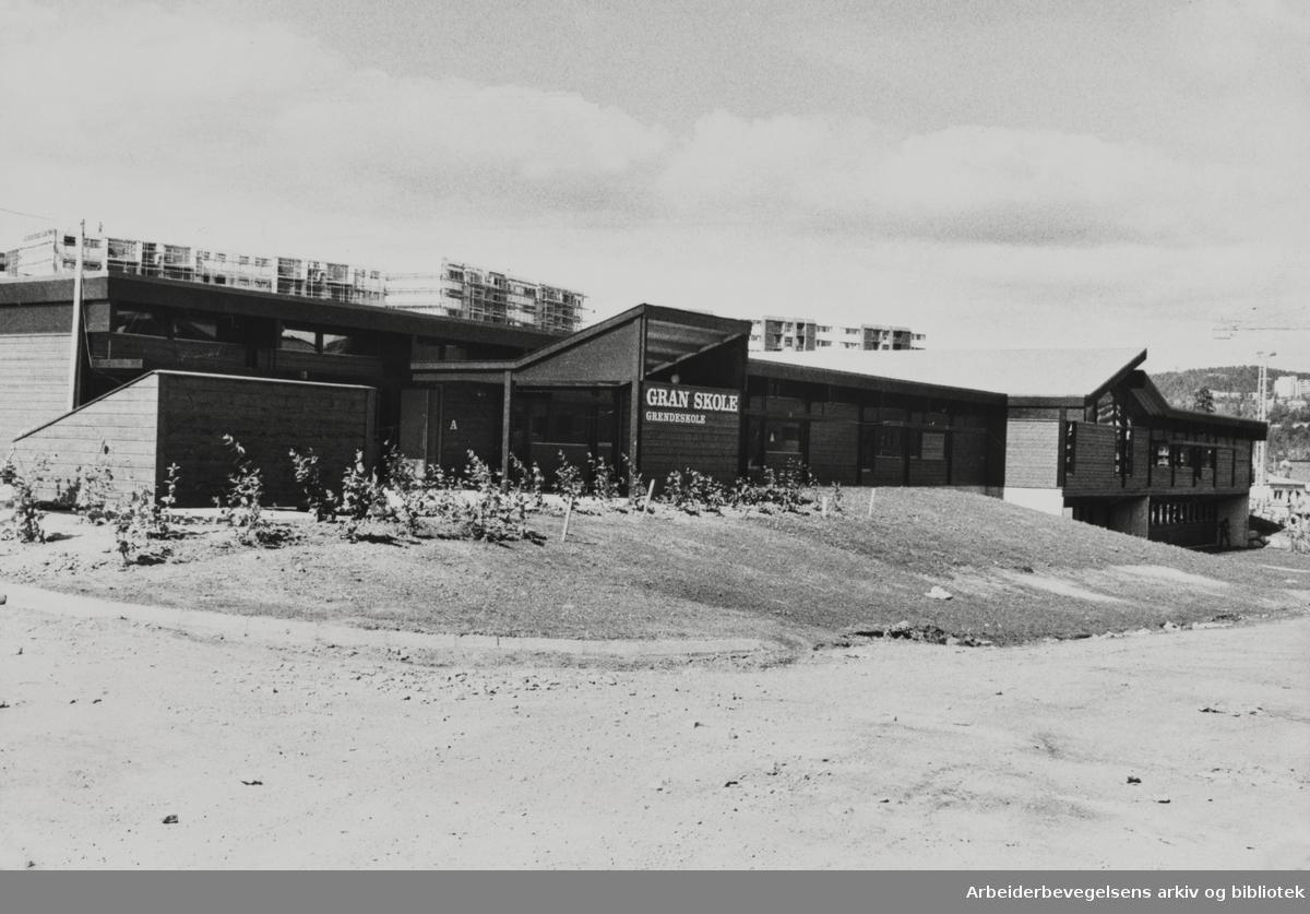 Furuset. Gran skole. August 1978