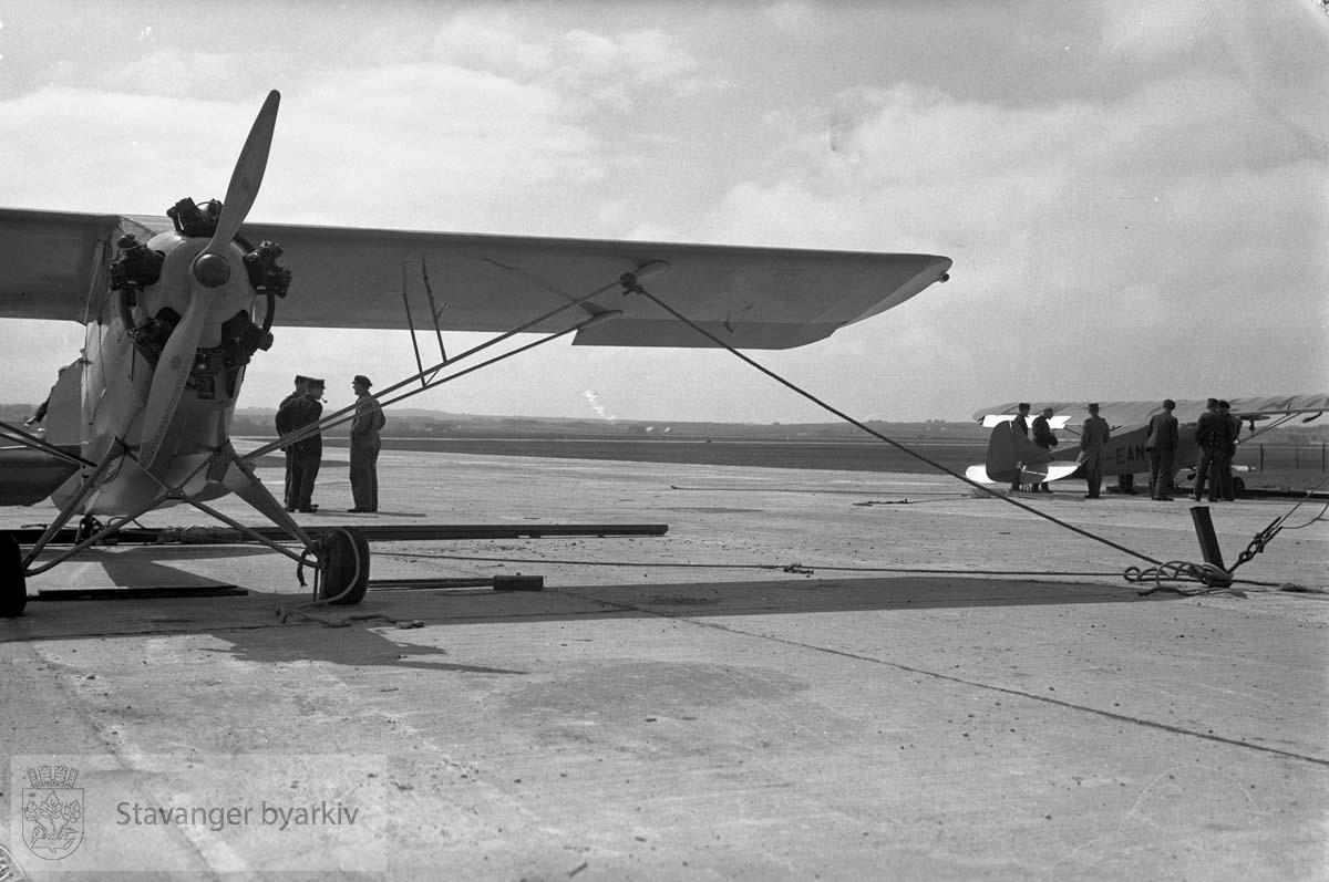 Fra åpningen av Sola Flyplass 29.05.1937
