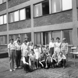 Skolklass från Attmar på studiebesök på Dagbladet.