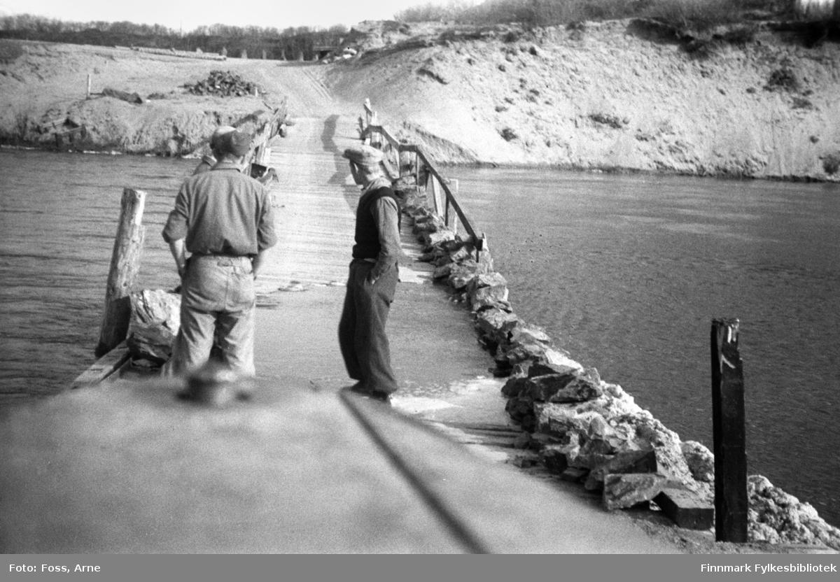 Masjok bru og vårflom, mai 1946.