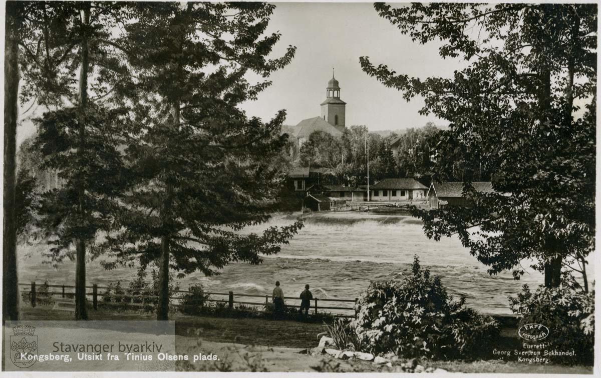 Kongsberg, utsikt fra Tinius Olsens plass