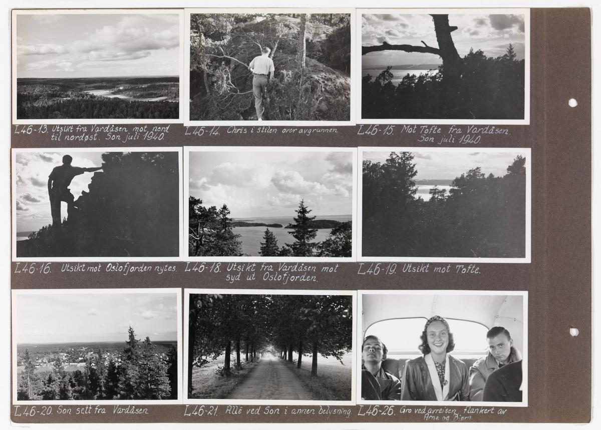 Adolf Bechs fotoalbum fra 1939-1940. Bech var kontorsjef ved transportkontoret i generaldirektoratet for Norges Statsbaner.   Enkeltbilder fra albumet er publisert på reg.nr. UHB-105-0002 - UHB-105-0141.