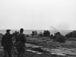 40 mm fältautomatpjäs m/48. Skarpskjutning sjömäl
