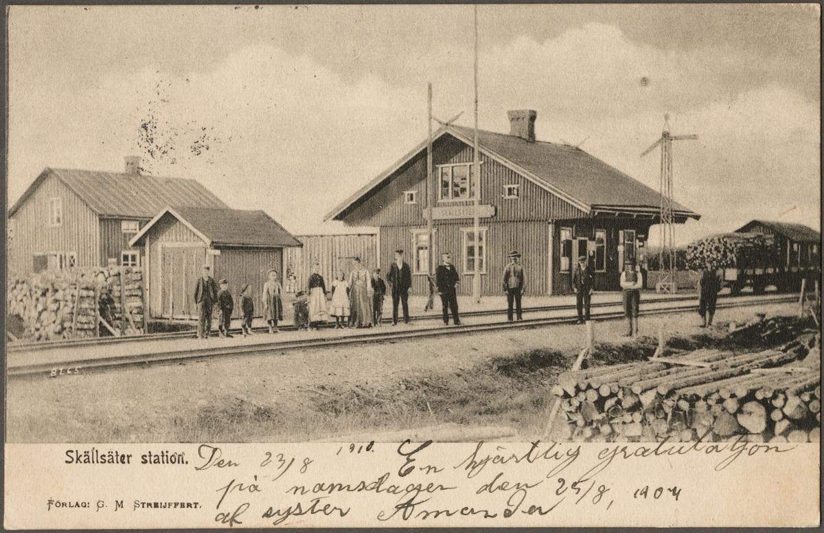Skällsäter station.