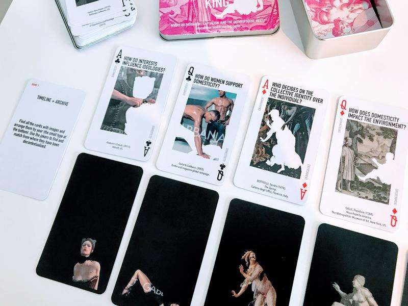 Balzi, Leticia (2019). The Gendered Planet Artistic Research Project: Not my King toolkit [Deck of playing cards and ludic space installation].