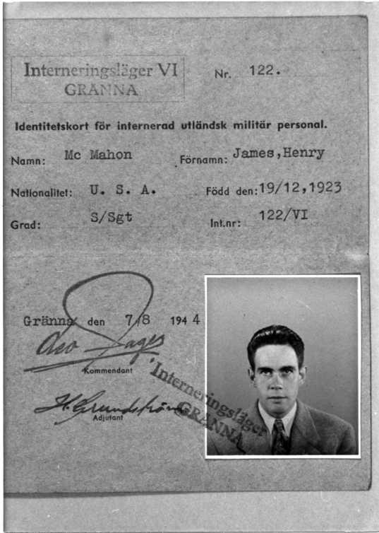 Fotografi av identitetskort för James Henry Mc Mahon.