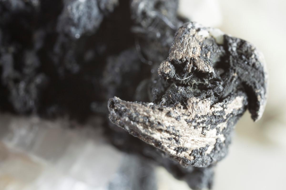 Pyrargyritt eller proustitt med trådsølv. Else gruve. Vekt: 67,97 g
