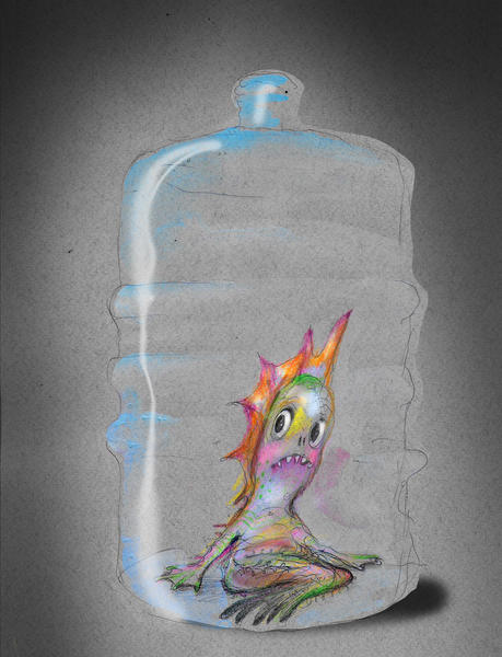 Marmæl i plastflaske. Foto/Photo
