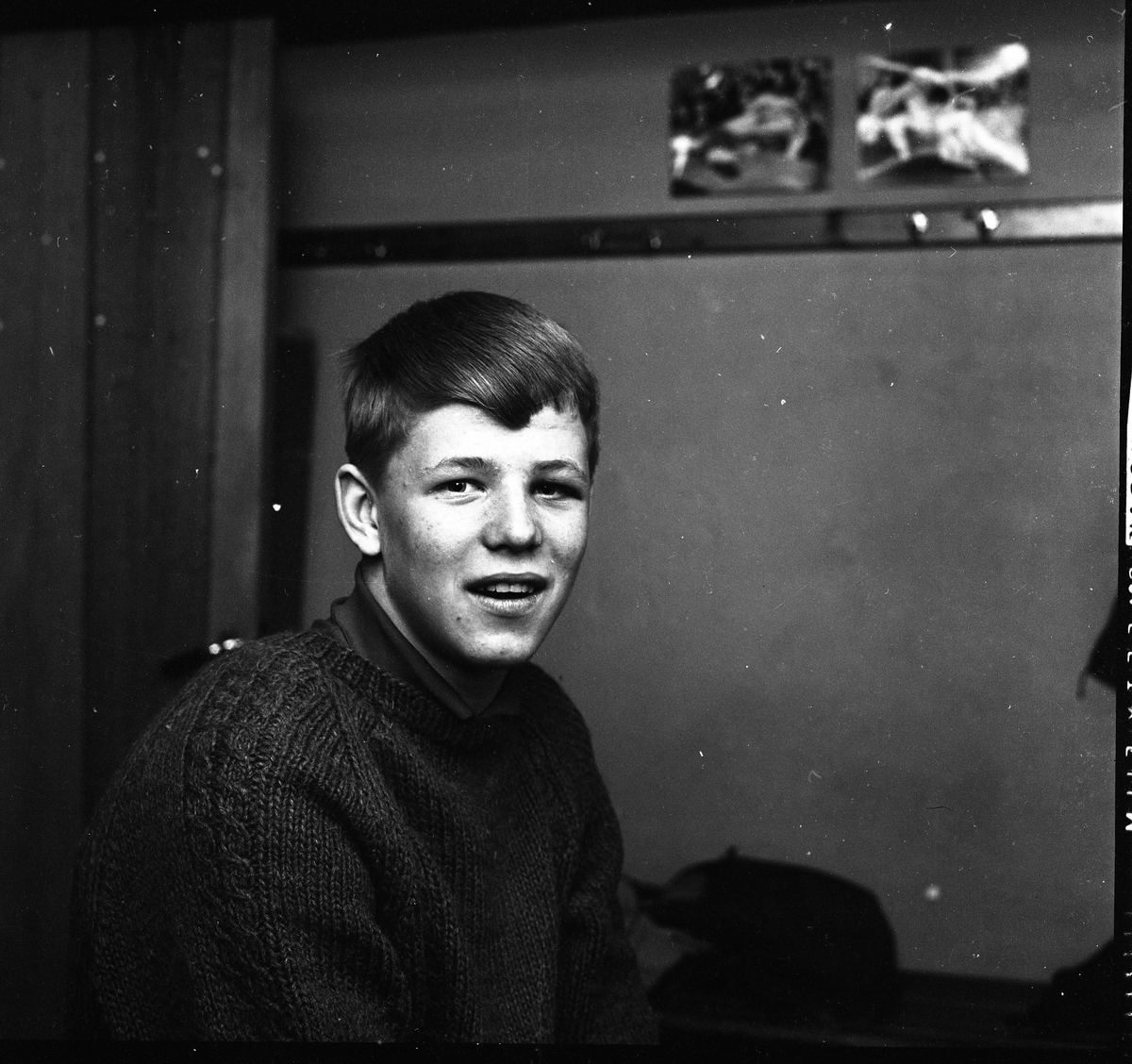 Leif Andersson. Brottare. Porträtt av ung man.