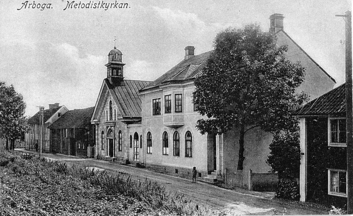 Arboga Metodistkyrka Metodistkyrkan invigdes i mars 1887.  1990 köptes den av Odd fellow´s fastighetsbolag. Medlemsantalet, i församlingen, var då så långt att de inte kunde behålla kyrkan. Vykort