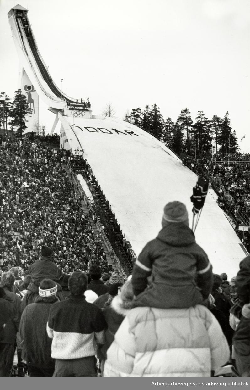 Holmenkollbakken. Holmenkollen, 100 år. 16. mars 1992