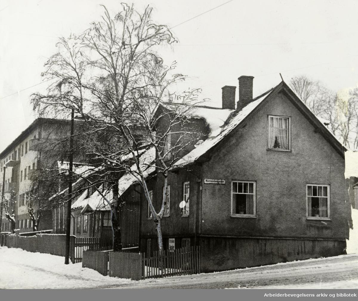 Kampen. Nannestadgata. Januar 1939