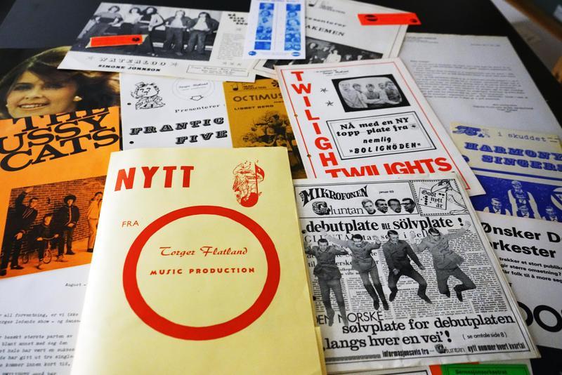 Orkesterkataloger og annet fra donasjonen.  Foto: Rockheim (Foto/Photo)