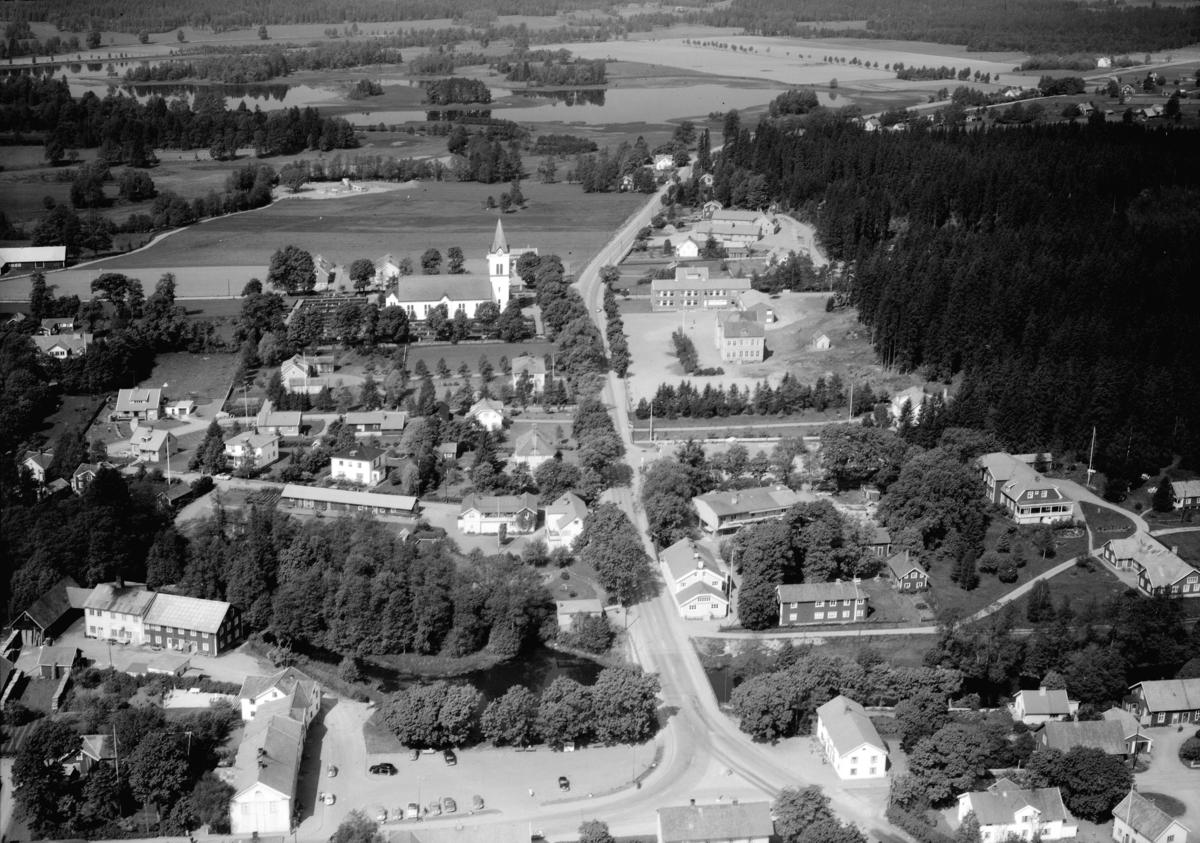 Flygfoto över Vrigstad i Sävsjö kommun, Jönköpings län. Nr: 168/1960