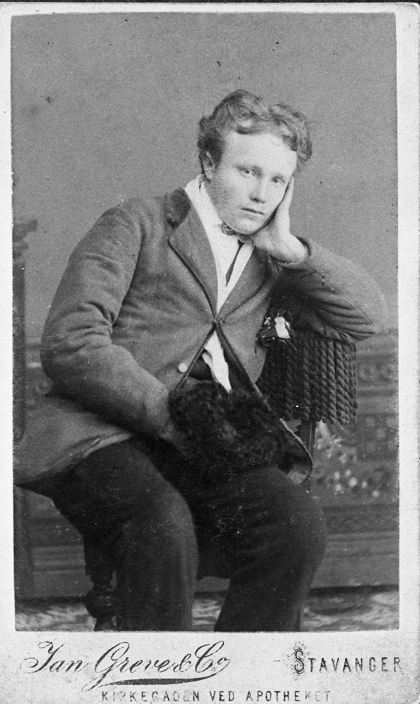 Morderen Lars Erikson fotografert i 1886.