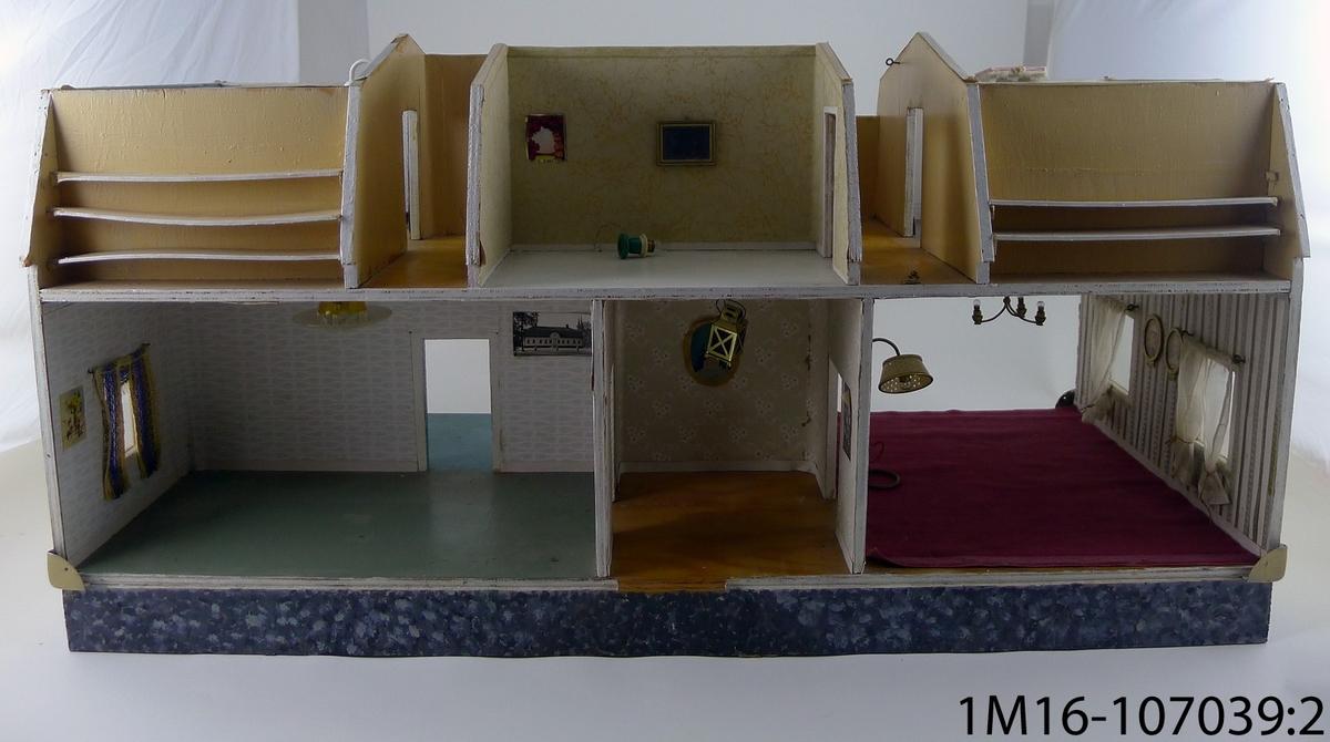 Dockskåp, inner delen, utan (locket) taket och långsidorna.
