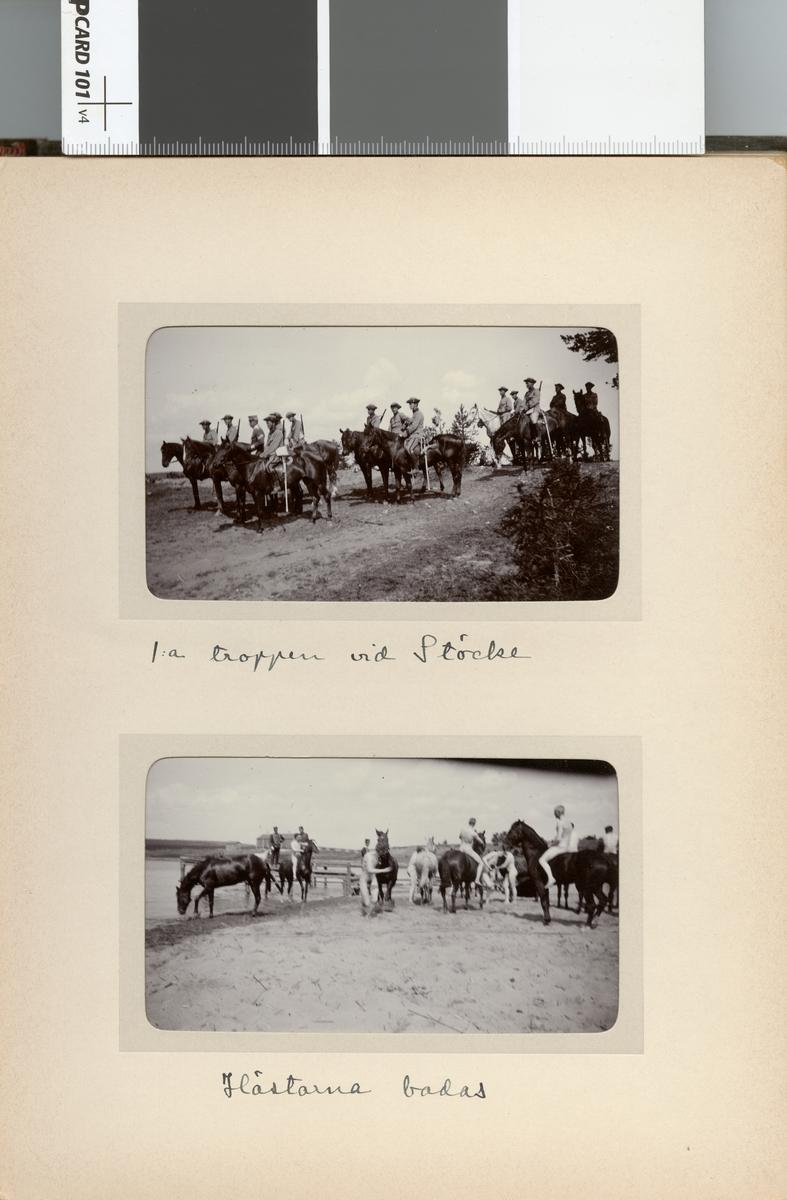 Kavalleriskolan, 1:a troppen vid Stöckesjön.