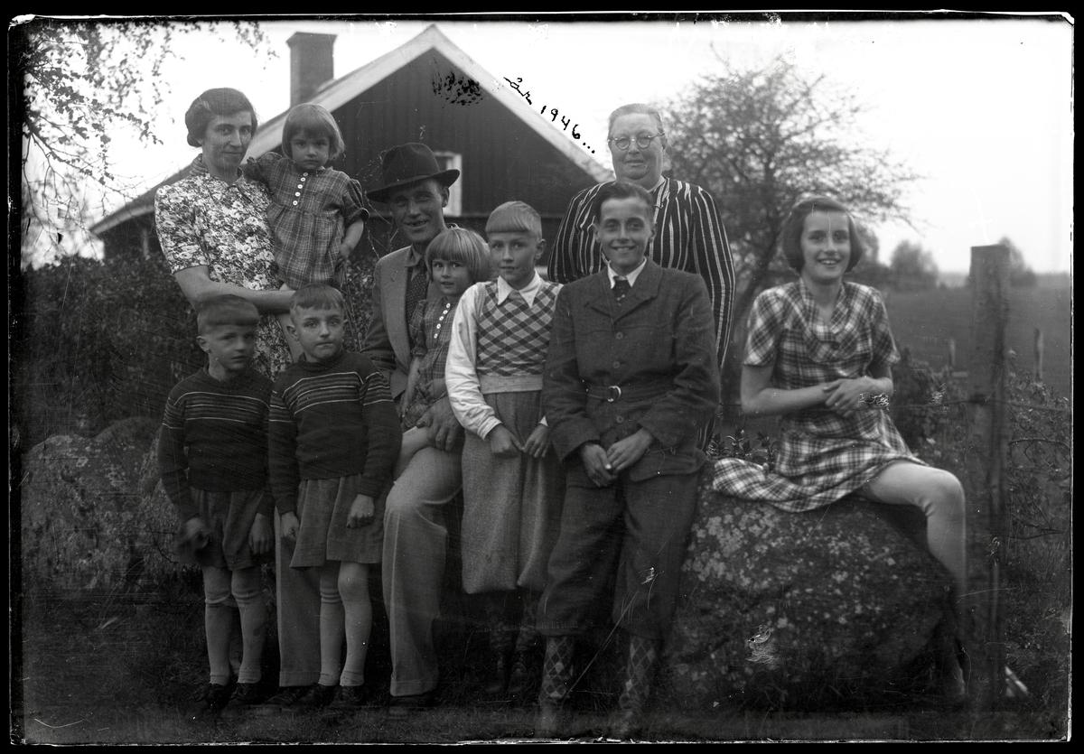 Familj med många barn