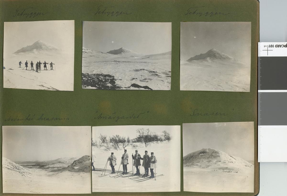 """Text i fotoalbum: """"Färden öfver Snasahögarna. Nedanför Snasarna""""."""