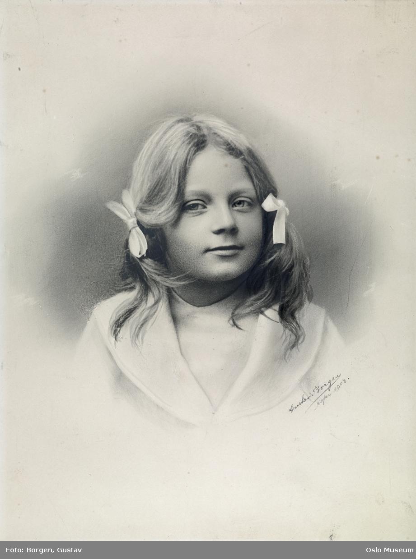 portrett, jente, brystbilde