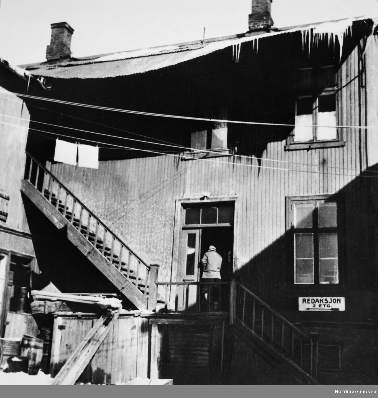 """""""Arbeiderpressen"""" Bildet er fra avisa Tidens Krav sitt arkiv i tidsrommet 1970-1994. Nå i Nordmøre museums fotosamling."""