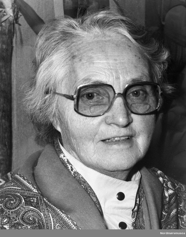 """""""Anne Arnesen."""" Bildet er fra avisa Tidens Krav sitt arkiv i tidsrommet 1970-1994. Nå i Nordmøre museums fotosamling."""