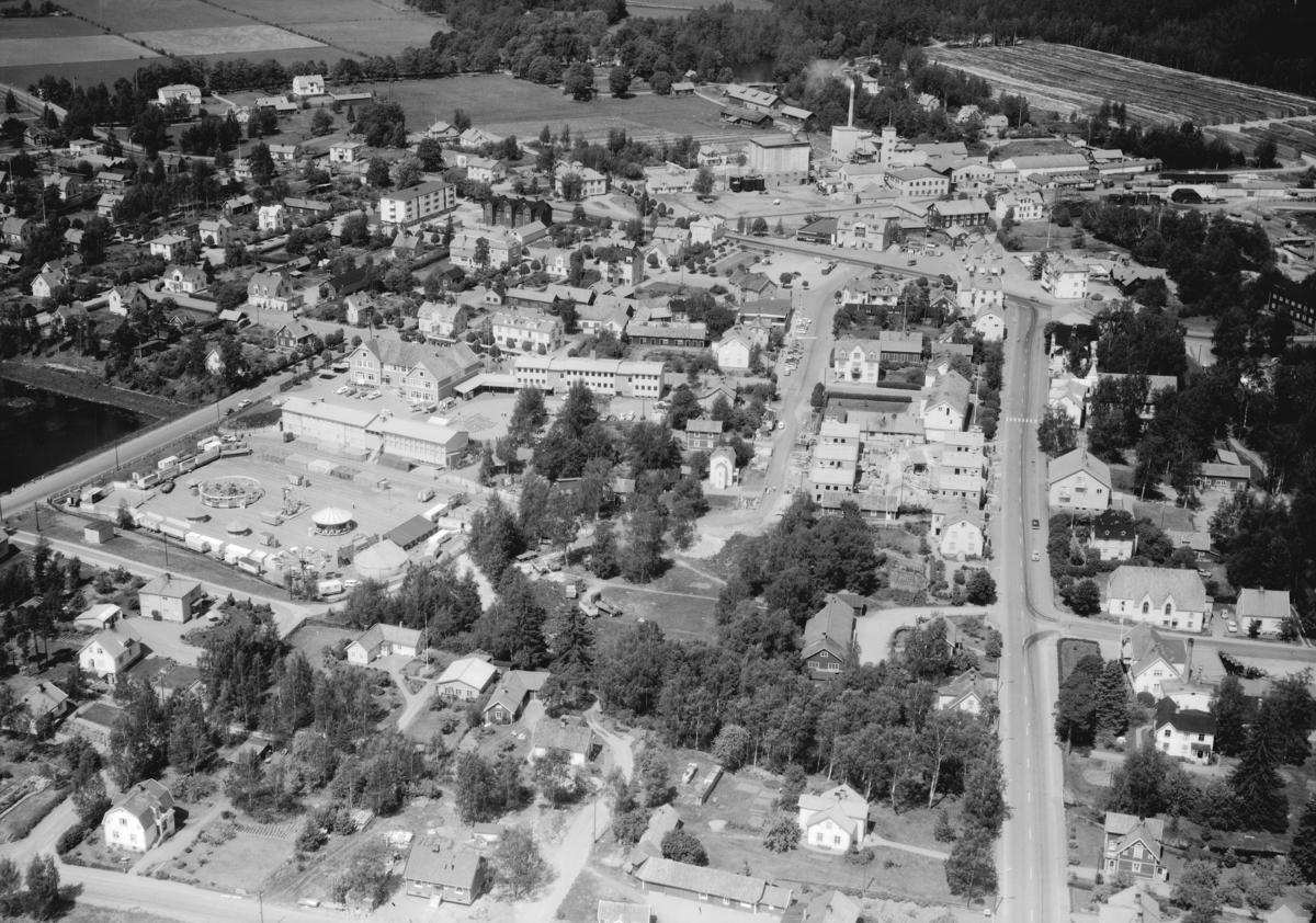 Flygfoto över Mariannelund i Eksjö kommun, Jönköpings län. 755/1964